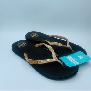 Reef Ginger Soft Slim Woven Strap Sandals NWT
